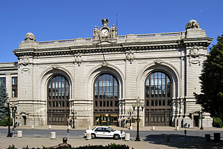 rail station in Albany, New York, United States