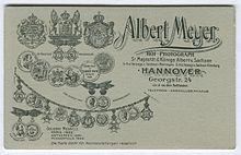 Ruckseite Einer Carte De Visite Von Meyer Aus Der Georgstrasse In Hannover Vis A Dem Opernhaus