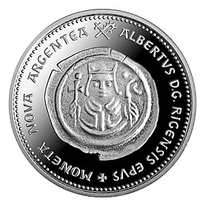 Commemorative coins of Latvia - Image: Albertins av