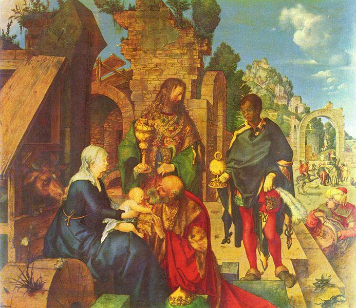 Adoración de los Tres Reyes Magos-Durero 693px-Albrecht_D%C3%BCrer_005