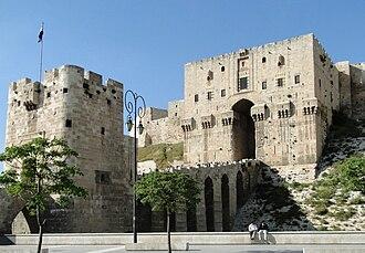 Bent entrance - Bent entrance of Citadel of Aleppo, Syria