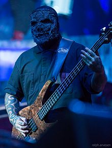 Venturella playing with Slipknot.