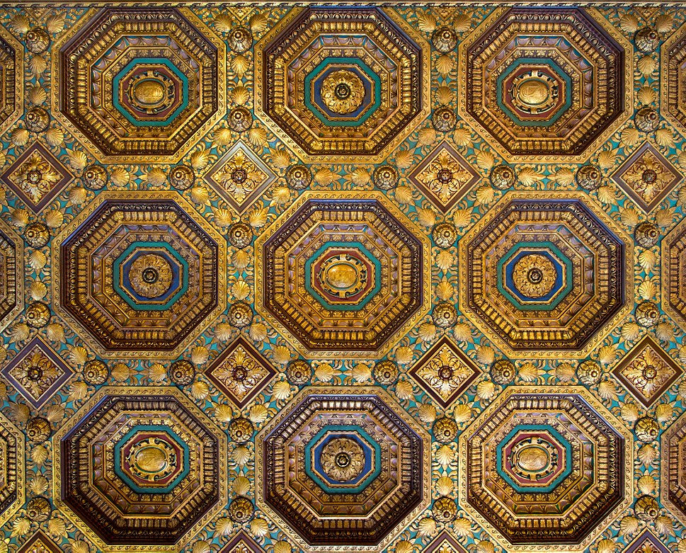 Alexander Hamilton Custom House Collector's Room ceiling (40511s)