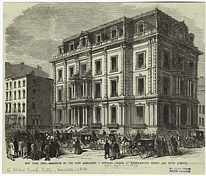 Alexander Turney Stewart - New York City residence of A. T. Stewart, corner of 34th Street and Fifth Avenue.