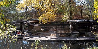 Alfred Caldwell Lily Pool - Image: Alfred Caldwell Lily Pool Fall 2010
