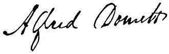 Alfred Domett - Image: Alfred Domett Signature