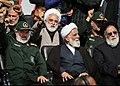 Aliakbar Natiq Nouri & and Ali Fadavi in Funeral of Mohsen Hojaji in Tehran 01 (2).jpg