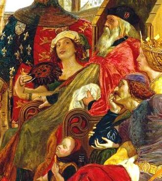 Alice Perrers - Perrers seated beside King Edward III, as imagined by Ford Madox Brown