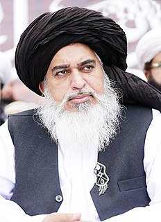 Khadim Hussain Rizvi Pakistani Muslim scholar and politician
