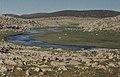 Alluvium & grass in desert river valley. Mid Atlas (23903063428).jpg