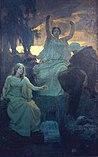 Alois Delug – Die Nornen, 1895, Öl auf Leinwand, cm 354 × 223