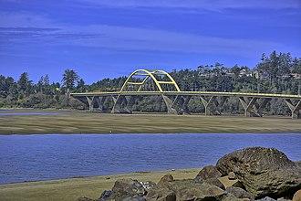 Alsea Bay Bridge - The bridge in March 2015