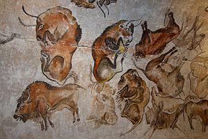 peinture de bisons