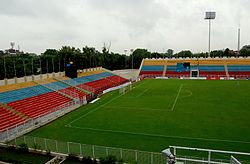 Ambedkar stadium in delhi at morning.jpg
