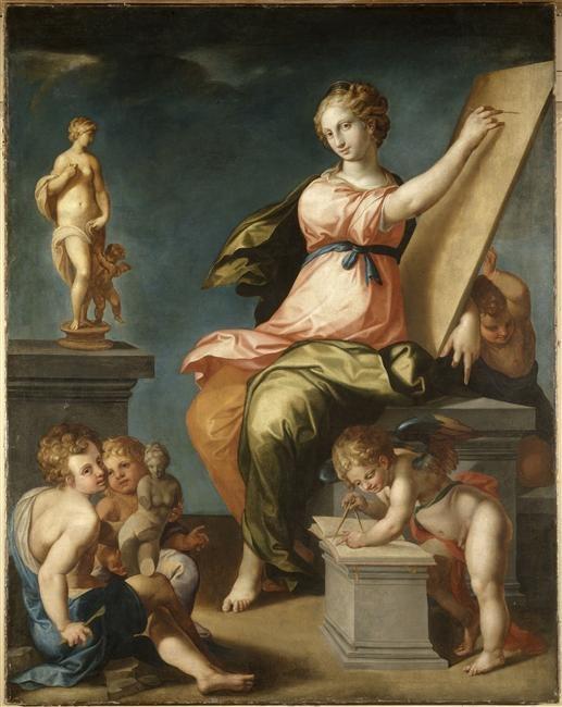 Ambroise Dubois 1543-1614 Allegorie de la Peinture et de la Sculpture.