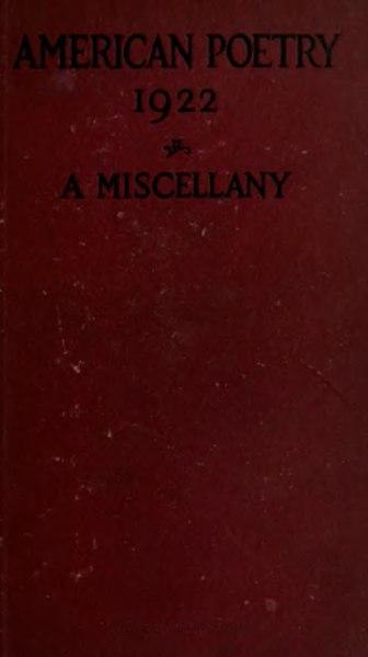 File:American Poetry 1922.djvu