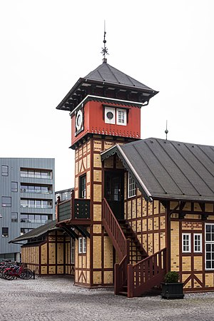 Amerika Plads - The former Free Port Station building