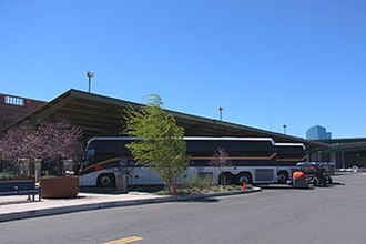 Sacramento Valley Station - Thruway Motorcoach buses at Sacramento Valley Station