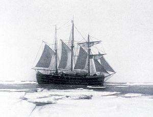 Icebreaker - Fram in Antarctica  in Roald Amundsen's expedition