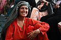 An Afghan woman talks with other women at the district center in Spin Boldak, Kandahar province, Afghanistan, Sept 110918-A-VB845-205.jpg