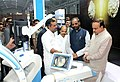Ananth Kumar visiting the India Medical Expo-2016, an exhibition for medical electronics and device sector, in Bengaluru. The Minister of State for Chemicals & Fertilizers, Shri Hansraj Gangaram Ahir.jpg