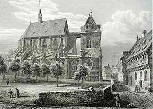 St. Andreas, Hildesheim - St. Andreas in 1850