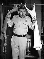 Andy Griffith in Mayberry jail.