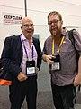 Andy Mabbett and Andrew Hiskens VALA2016.jpg