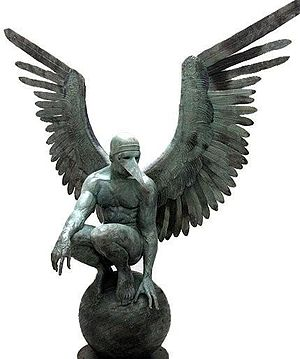 Jorge Marín - Monumental Perselidas Angel 2009 Bronze 256 x 244 x 120 cm