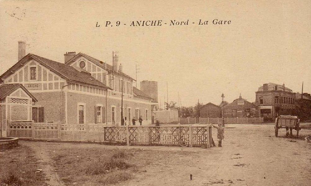 Former railstation at Aniche, France.