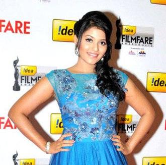 Anjali (actress) - Image: Anjali at 60th South Filmfare Awards 2013