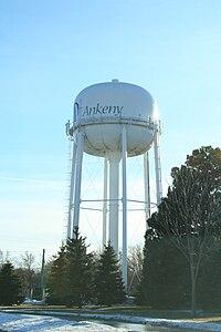 Ankeny Iowa 20080104 Watertower