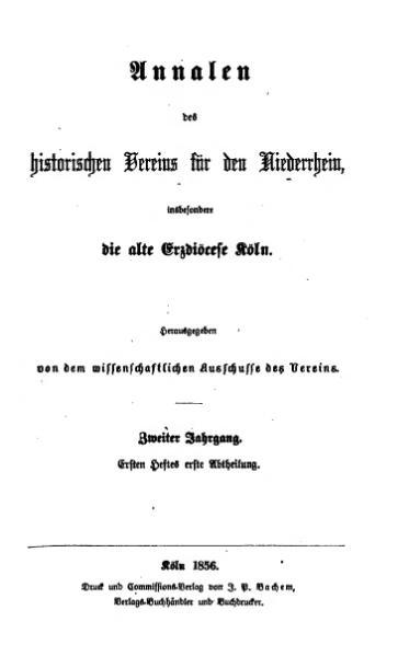 File:Annalen des Historischen Vereins für den Niederrhein 03 (1856).djvu