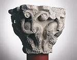 Anonyme toulousain - Chapiteau de colonne simple , Lions dans des lianes - Musée des Augustins - ME 221 (4).jpg