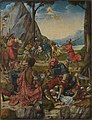 Anton Woensam von Worms - Martyrium der thebaischen Legion (Vorderseite- Hll. Anno und Gregor der Mohr) - 1474 - Bavarian State Painting Collections.jpg