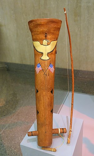 Chesley Goseyun Wilson - Apache fiddle made by Chesley Goseyun Wilson (San Carlos Apache) in the National Museum of American History, 1989