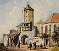 Aquarell - Nabburg - Burghof - Joseph Andreas Weiß.jpg