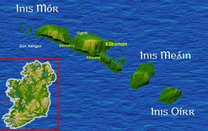 Inishmore Aerodrome - Map of the Aran Islands