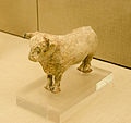 Archaeological site of Akrotiri - Museum of prehistoric Thera - Santorini - neolithic pottery - bull rhyton - 04.jpg