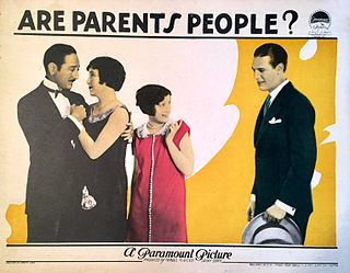 <i>Are Parents People?</i> 1925 film by Malcolm St. Clair