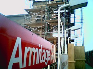 Armitage station - Armitage on May 29, 2007, under renovation