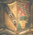 Arms RichardFerris Died1649 StPeter'sChurch Barnstaple Devon.PNG