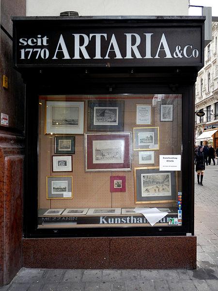 File:Artaria Kunsthandlung Schaufenster Kohlmarkt.jpg