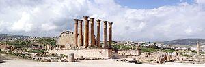 Temple of Artemis, Jerash - Image: Artemis Temple Pan 1 toched