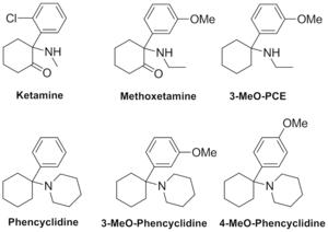 Methoxetamine - Methoxetamine and related arylcyclohexylamines.