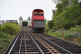 Duquesne Incline - Image: Ascending the Duquesne Incline