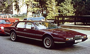 Aston Martin Lagonda - The 1976 wedge-shaped styling contrasted sharply with other cars of its day