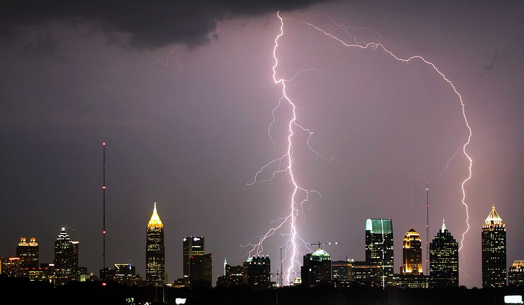 Picture of Lightning Striking Atlanta