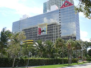 Arquitectonica - Atlantis Condominium in Miami, seen prominently in Miami Vice