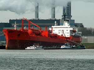 Atria IMO 7384821 at the Botlek harbour, Port of Rotterdam, Holland 29-Mar-2006.jpg